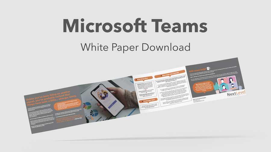 microsoft teams free white paper mokup - decoration