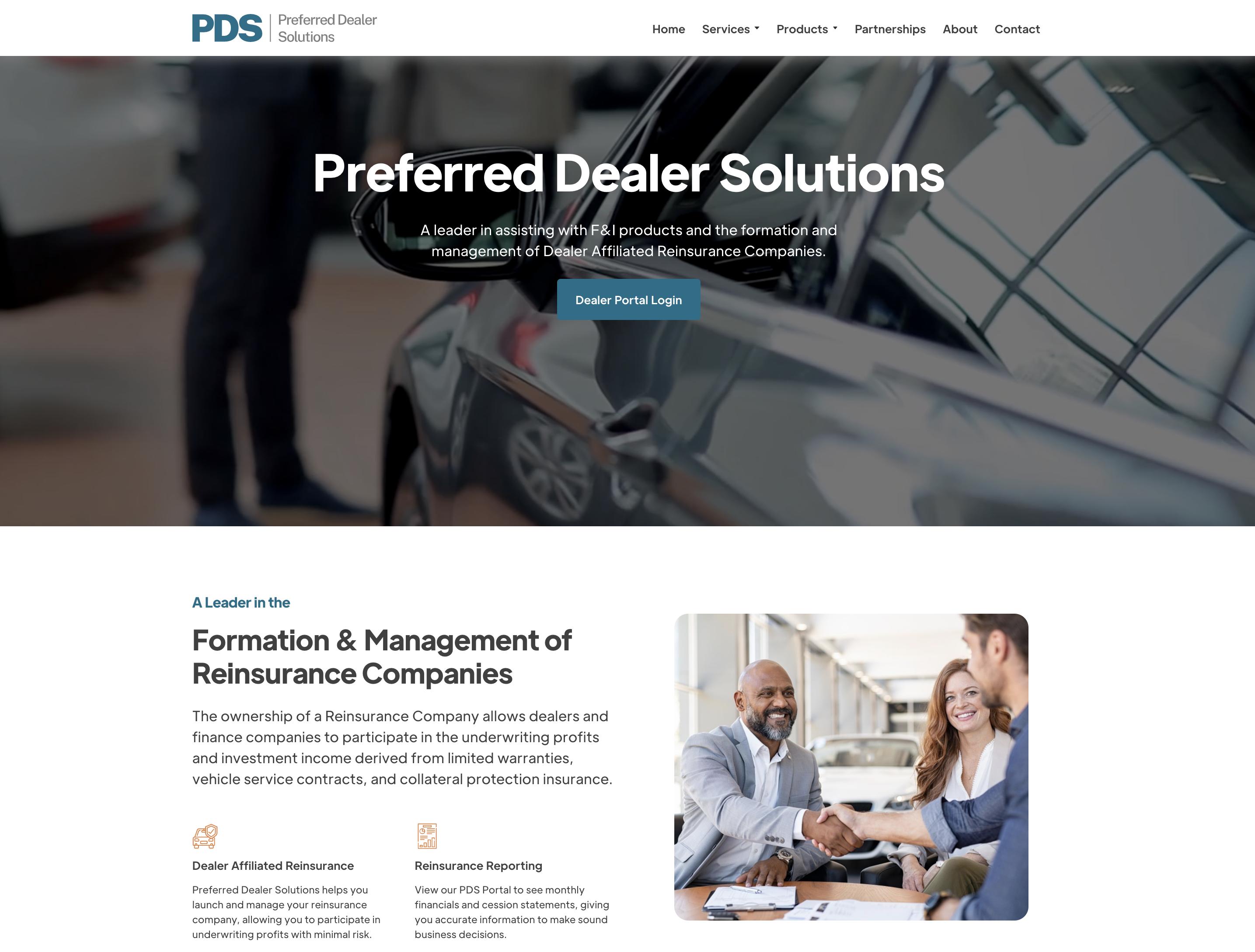 Preferred Dealer Solutions Website Design