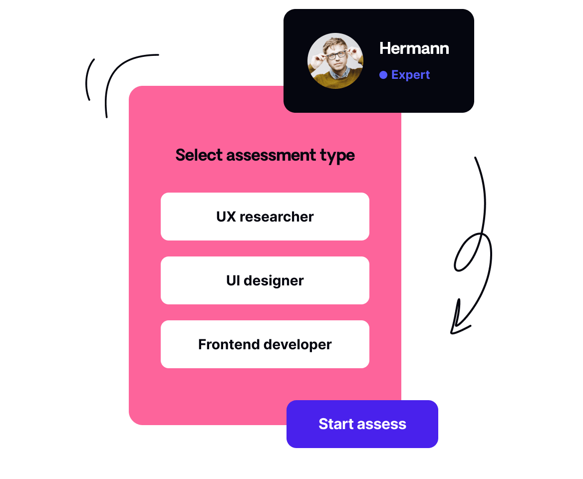 Assessments for multiple roles and disciplines