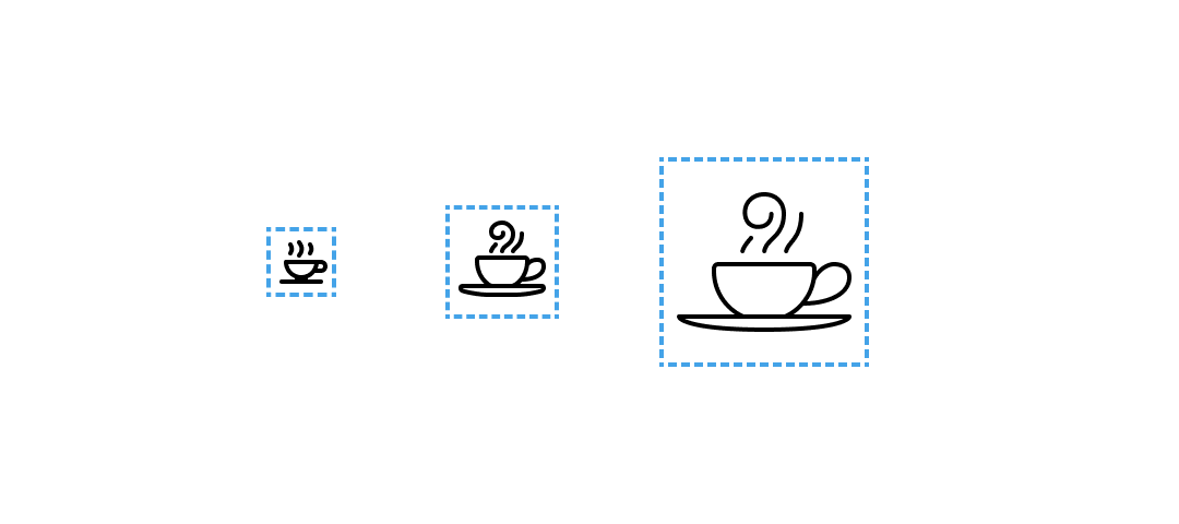 Using size in iconography