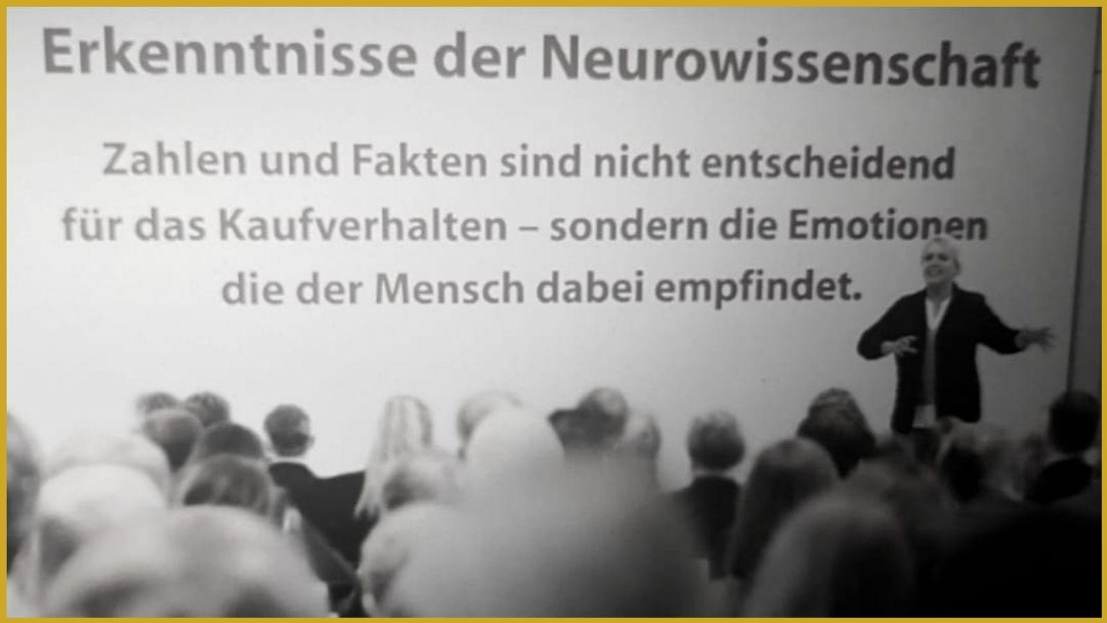 Erkenntnisse der Neurowissenschaft bei einem Vortrag