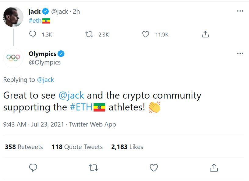 No, Jack Dorsey isn't trolling ETH by making its logo the Ethiopian flag