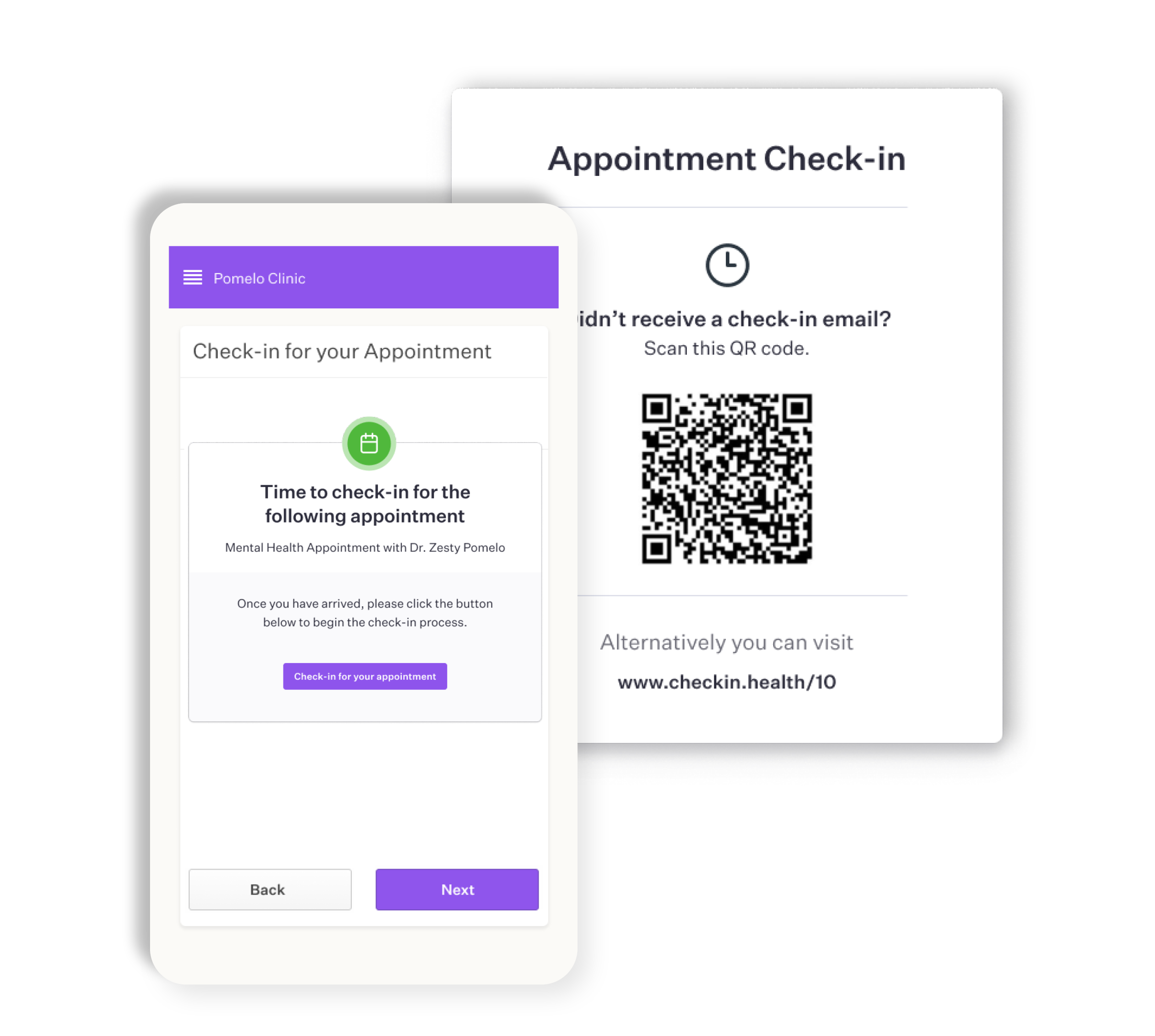 Mobile clinic check-in software