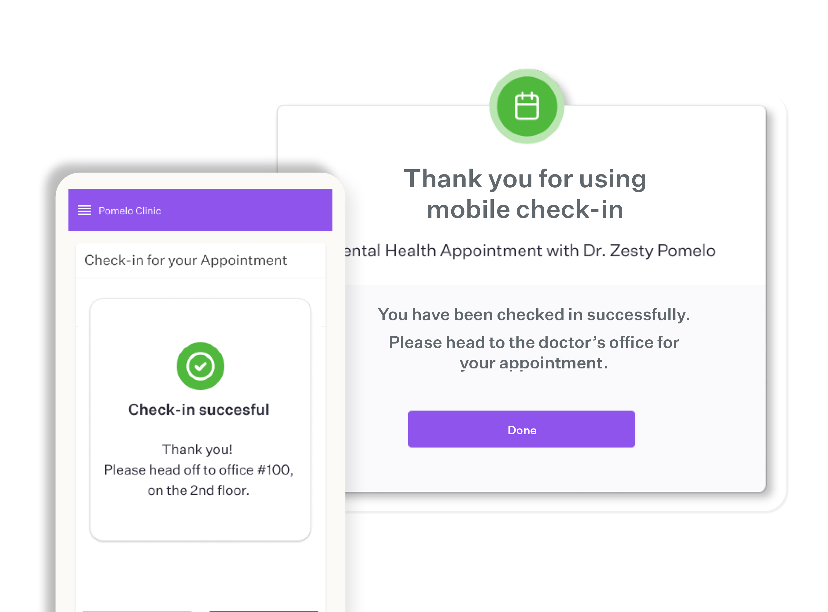 Mobile check-in software - Custom check-in instructions