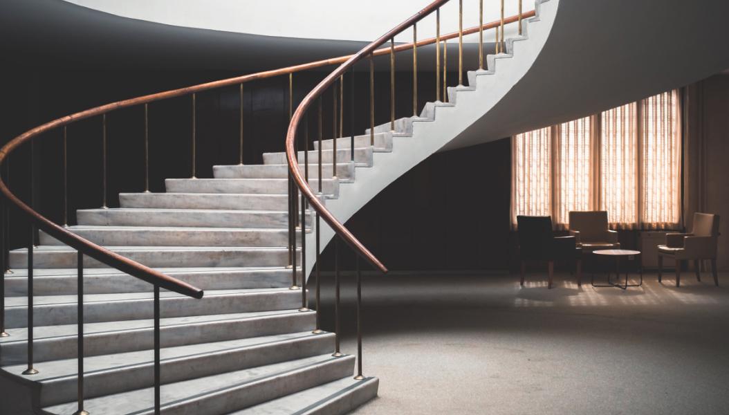 Geschwungene Treppen