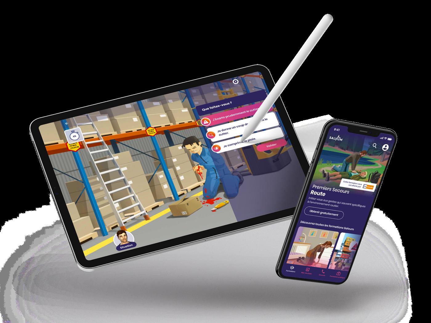 Des modules de formation interactifs et immersifs, disponible sur tout types de support : tablette, smartphone ou ordinateur.