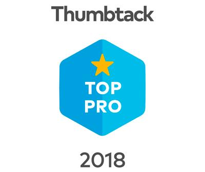 Thumbtack Top Pro award 2018.