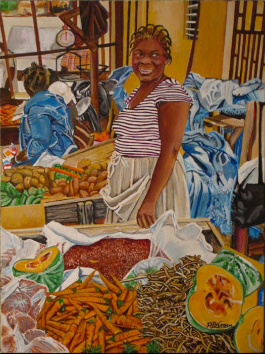 At The Market 12x16