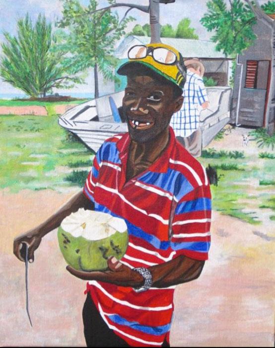 Coconut Man 16x20