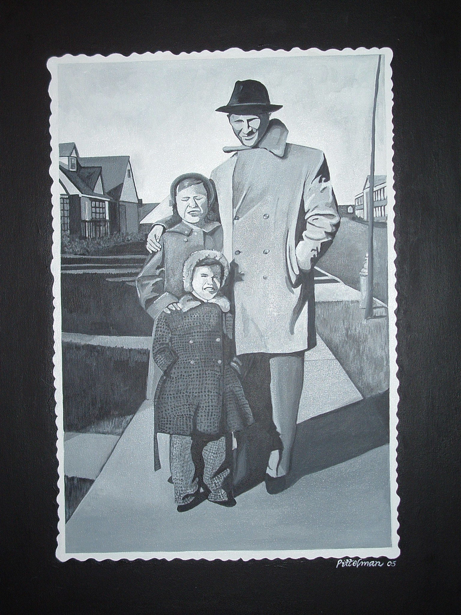 Safe in Daddy's Arms 18x24