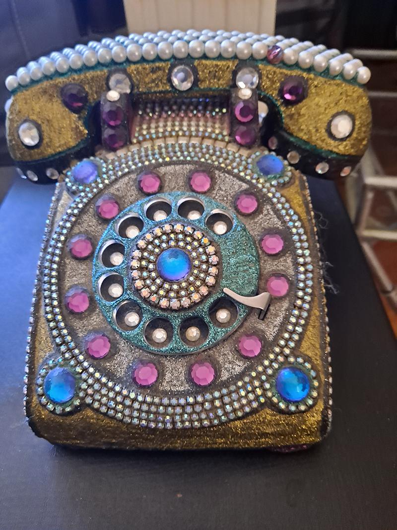 Rhinestone telephone