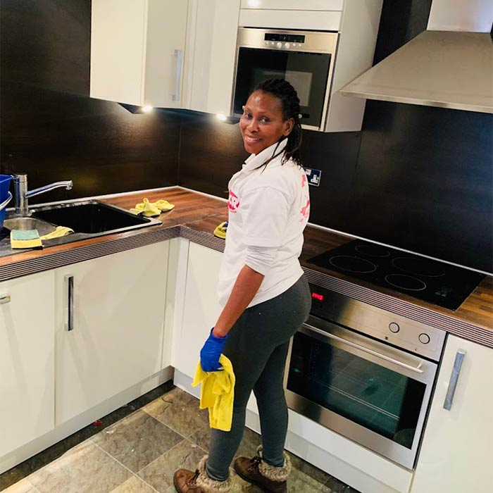 Kitchen cleaning in progress by ACR Cleaning
