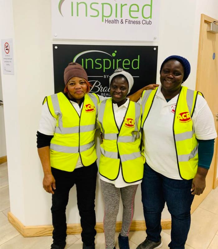 ACR Cleaning team at inspired Health and Fitness club