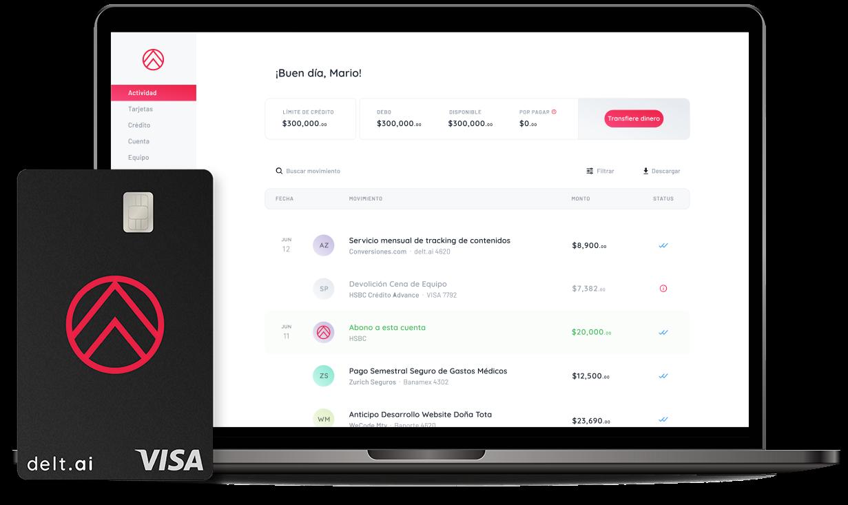 delt.ai plataforma para visualizar y gestionar gastos empresariales en México