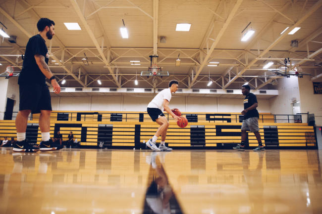 A basketball athlete recovered and back on court.