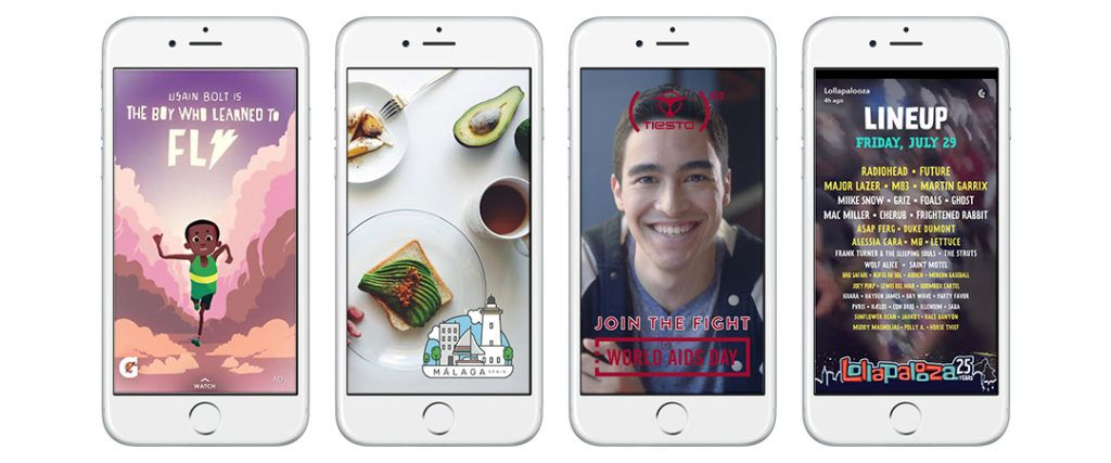 Snapchat Stories For eCommerce Example