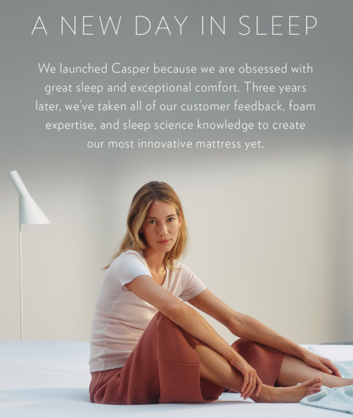 Example of a product release email