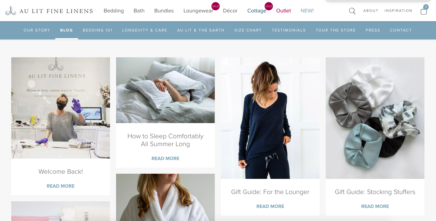 Blog Posts For eCommerce Content Marketing example