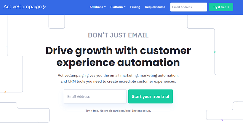activecampaign ecommerce email tool