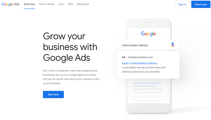 google ads for local business