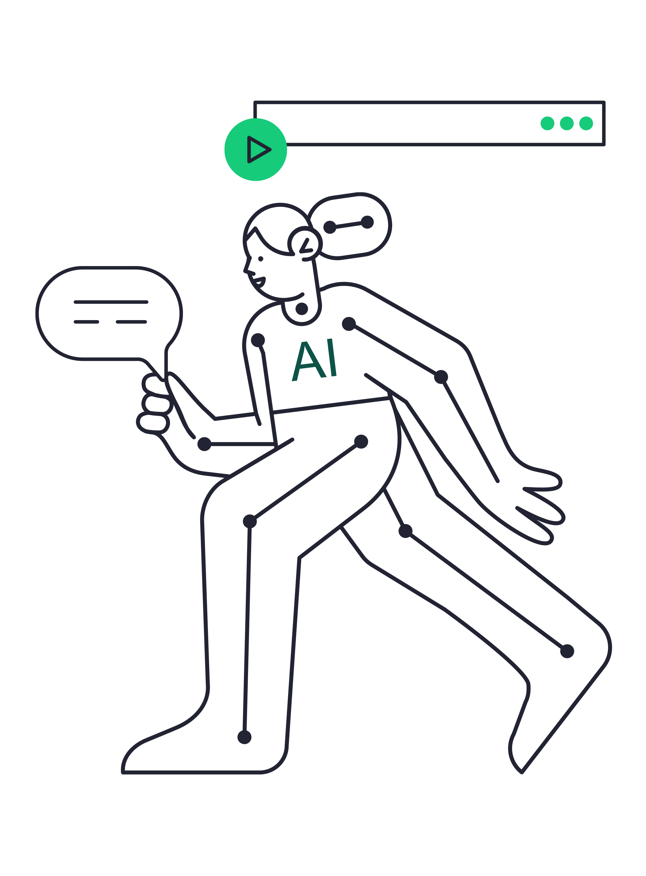 Person with AI outfit running