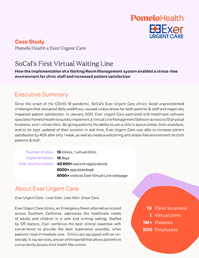 Implementing a virtual waiting room - Case Study Pomelo Health Canada