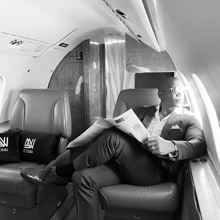 Ja Rule in a private jet