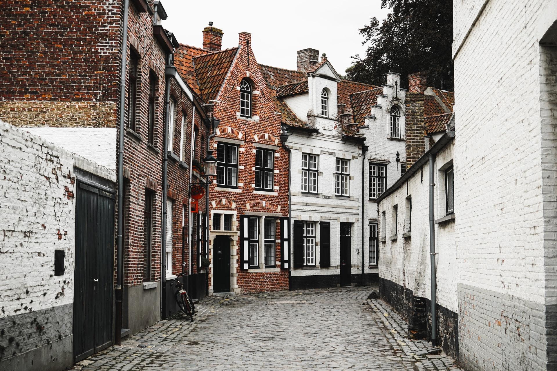 Houses in Bruges Belgium