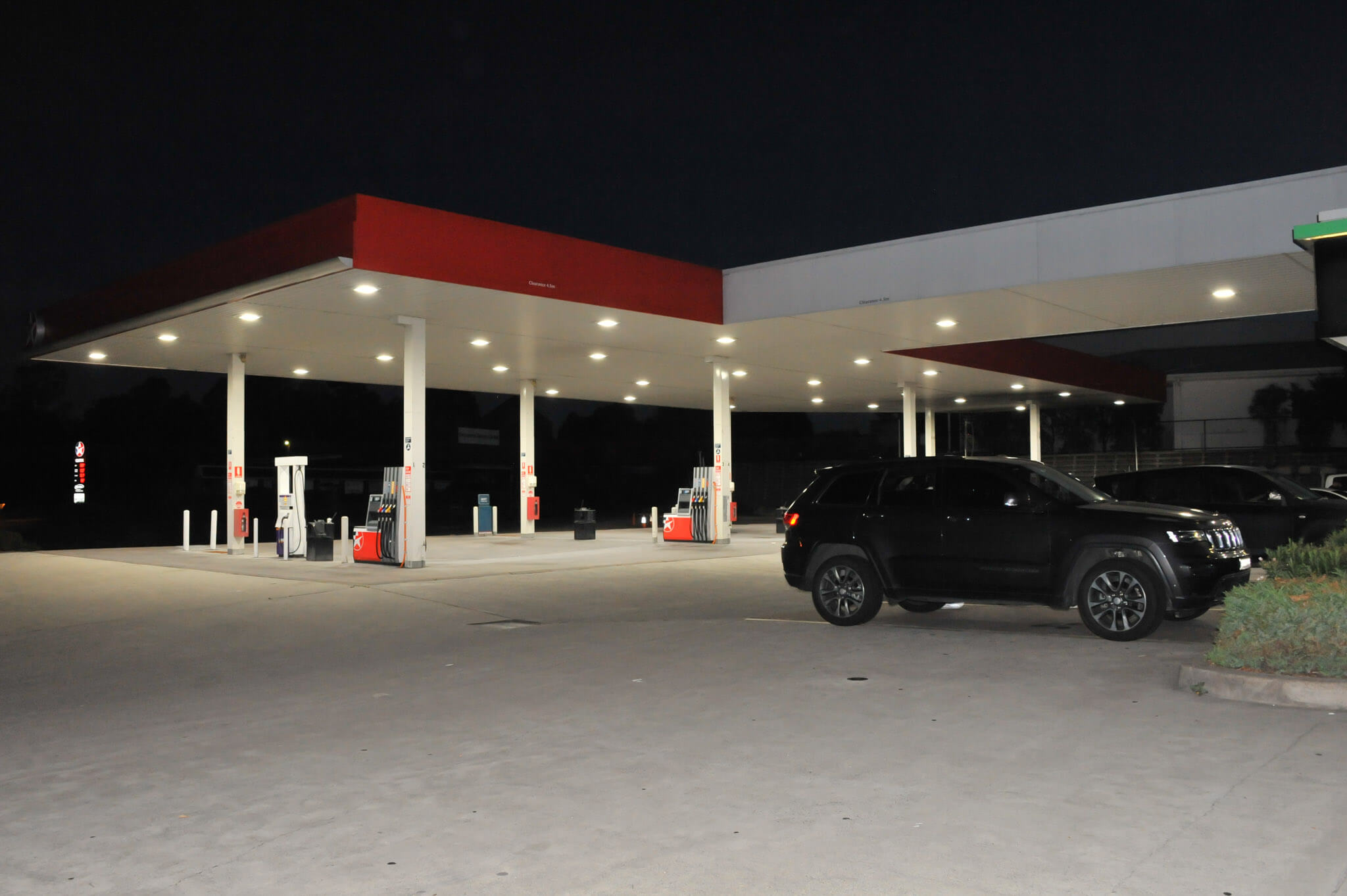 Caltex Service station outside