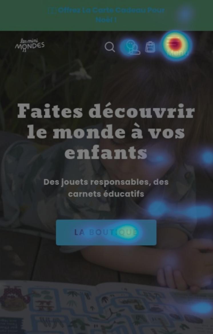 Site internet des Mini Mondes et carte de chaleur hotjar