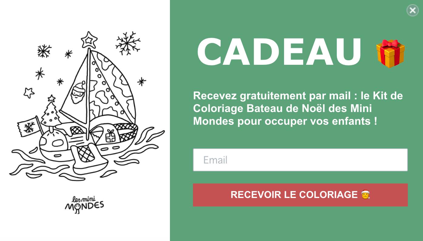 Exit pop-up site internet des Mini Mondes