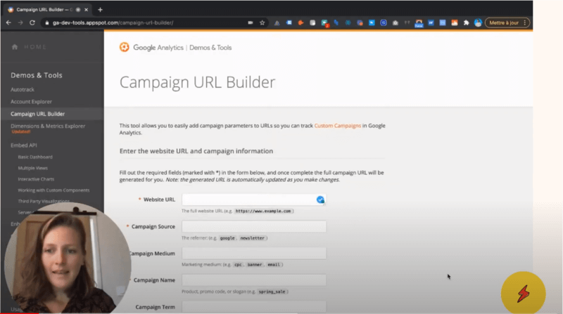 Video de formation Campaign URL Builder