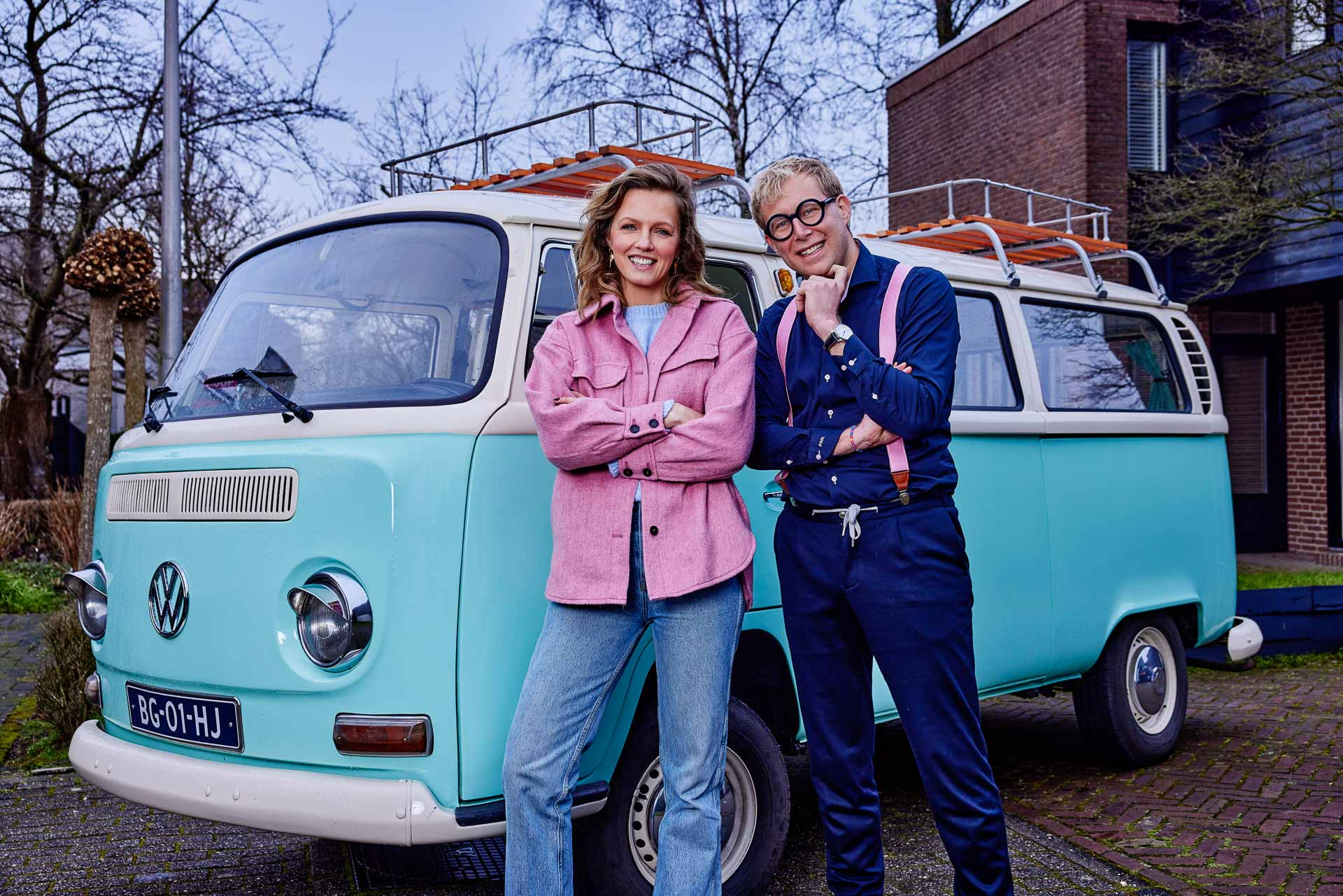 Geert Klaver als TV makelaar in het SBS6 programma kinderen kopen een huis