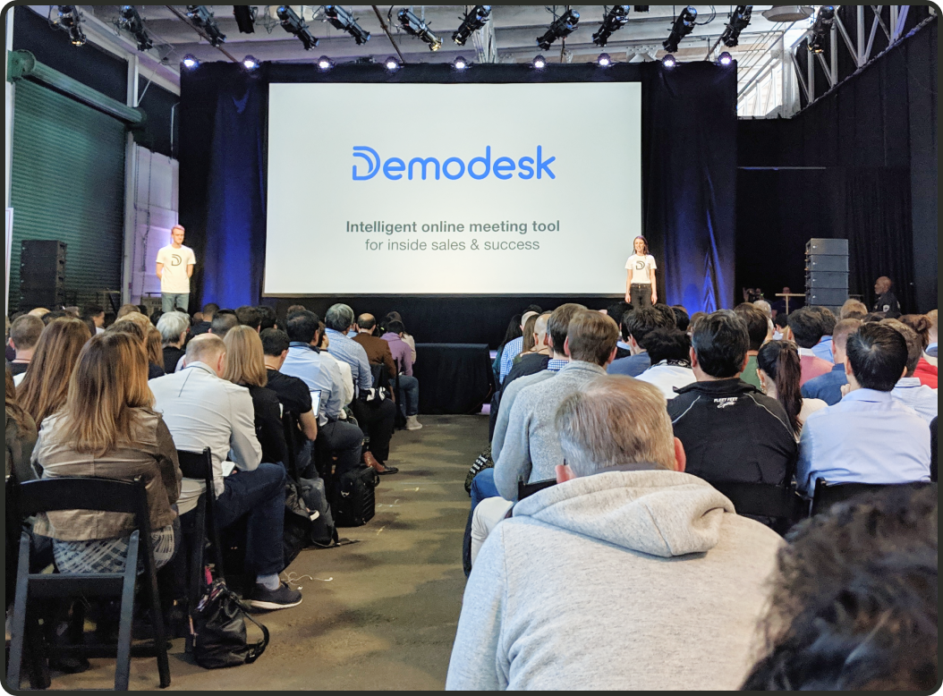 """In 2019, Veronika Riederle and Alex Popp pitched Demodesk at Y-Combinator's """"Pitch Day"""", raising $2.3M in seed funding."""
