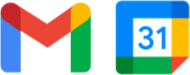 Google Calendar and Gmail logos