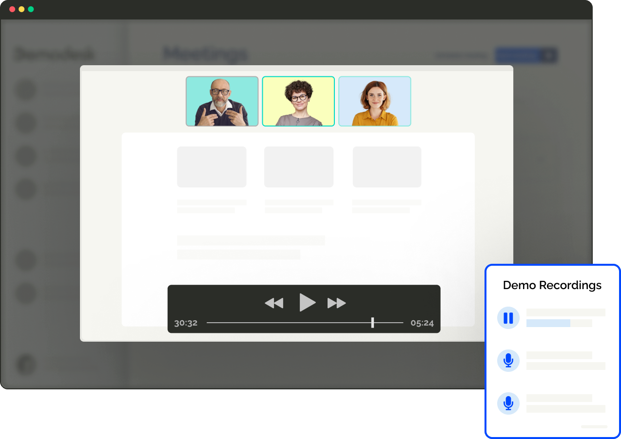 Record sales calls automatically – access & share them from your dashboard via a simple link.