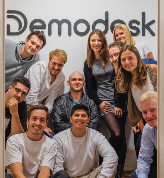 Some of the Demodesk team members at the Munich office
