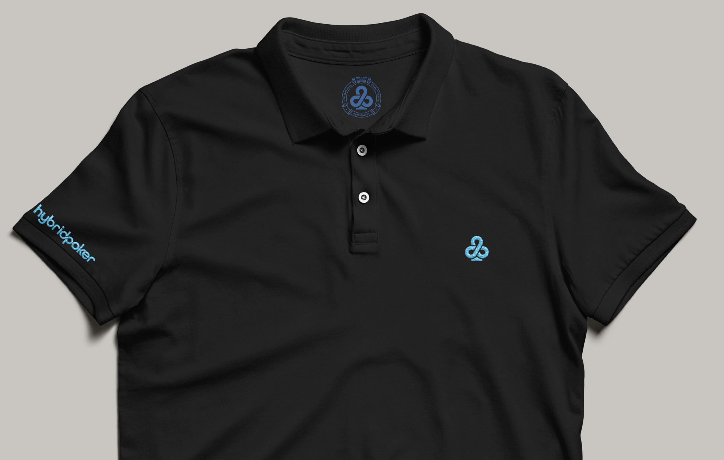 hybrid poker polo shirt