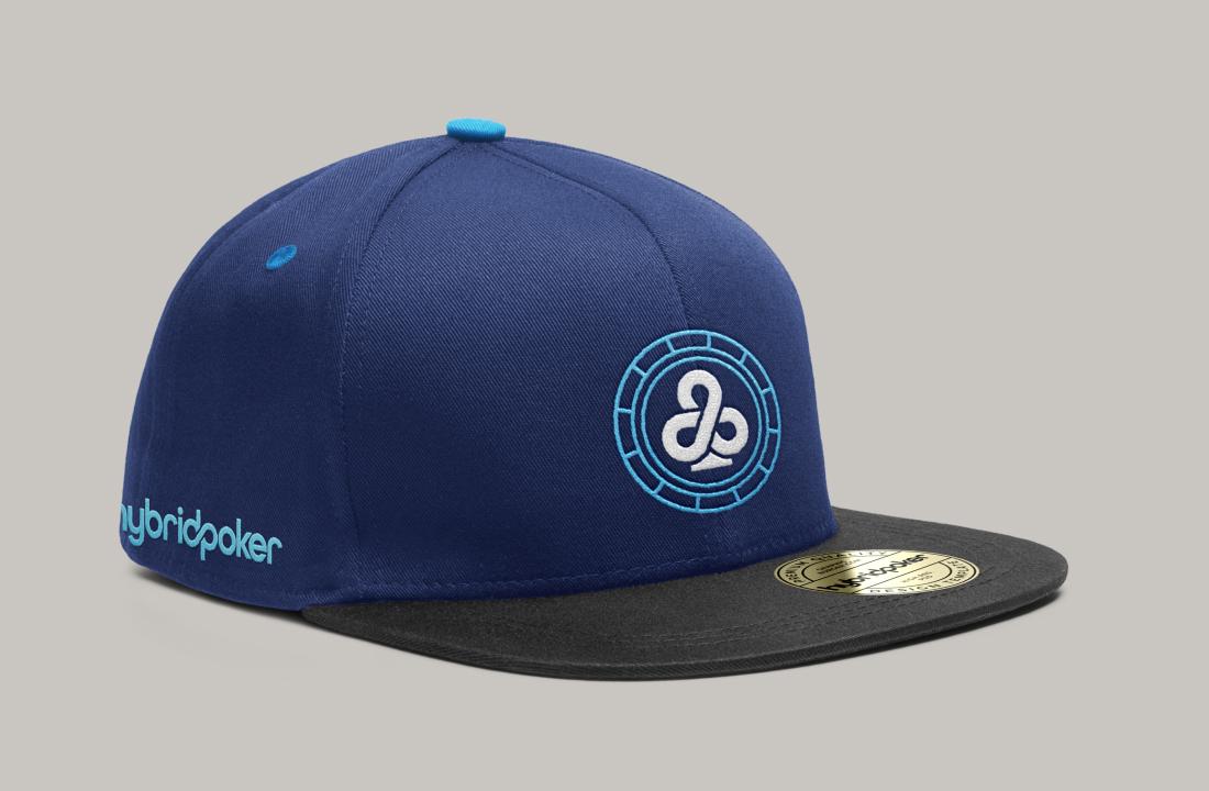 hybrid poker baseball hat