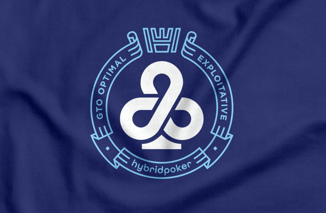 hybrid poker logo design