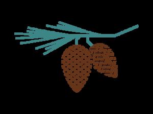 PineCrest Logo, MRC Senior Living Community, Texas