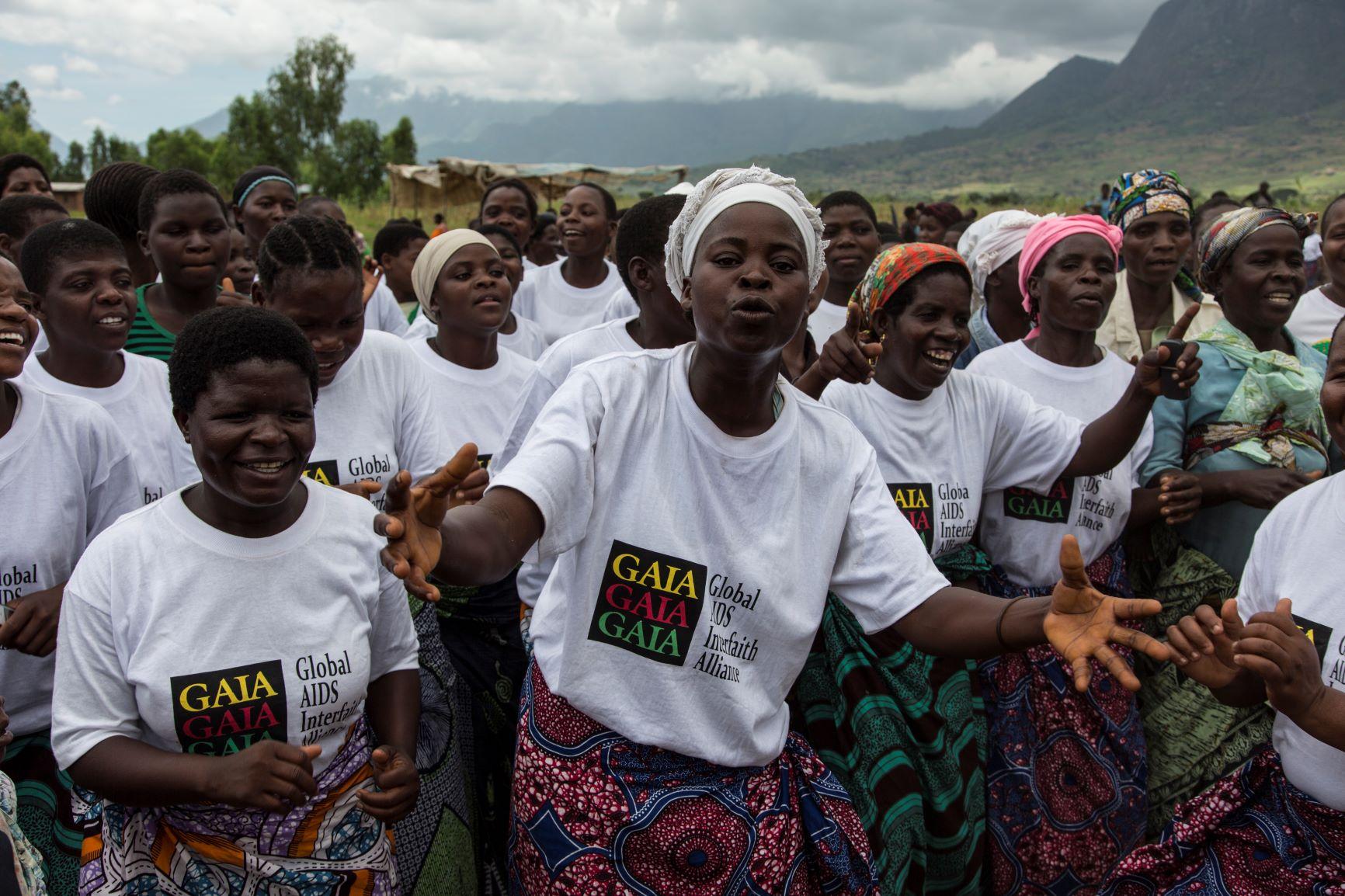 Community health workers singing in Mulanje, Malawi