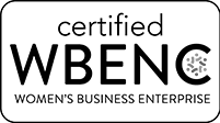 """Certified WBENC Women's Business Enterprise"" Logo"