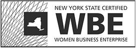 """New York State Certified WBE Women Business Enterprise"" Logo"
