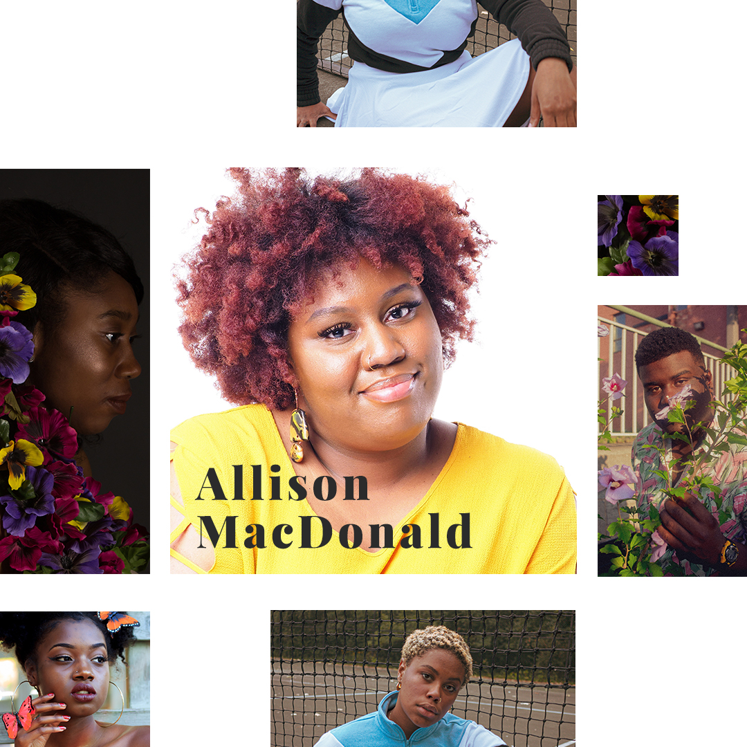 Collage of Allison MacDonald and her work