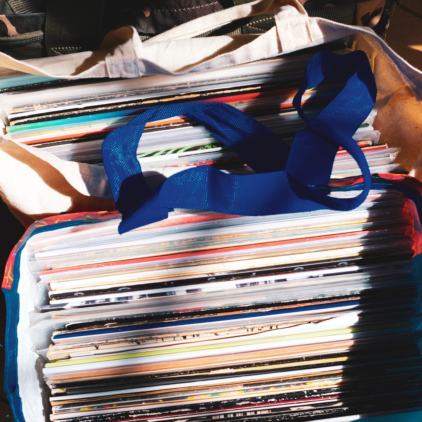 DJ's!   Raf has just dropped his records off for tonight and looks like he's packed for every eventuality.   We'll have DJ's every Friday and Saturday but we thought we'd get Raf in for our launch night.   Tomorrow we've got @sofieok___ and Saturday it's a long slog from De Lacy Sound System.    (only in the sun for the purpose of a picture. No records were harmed in the making of this post)