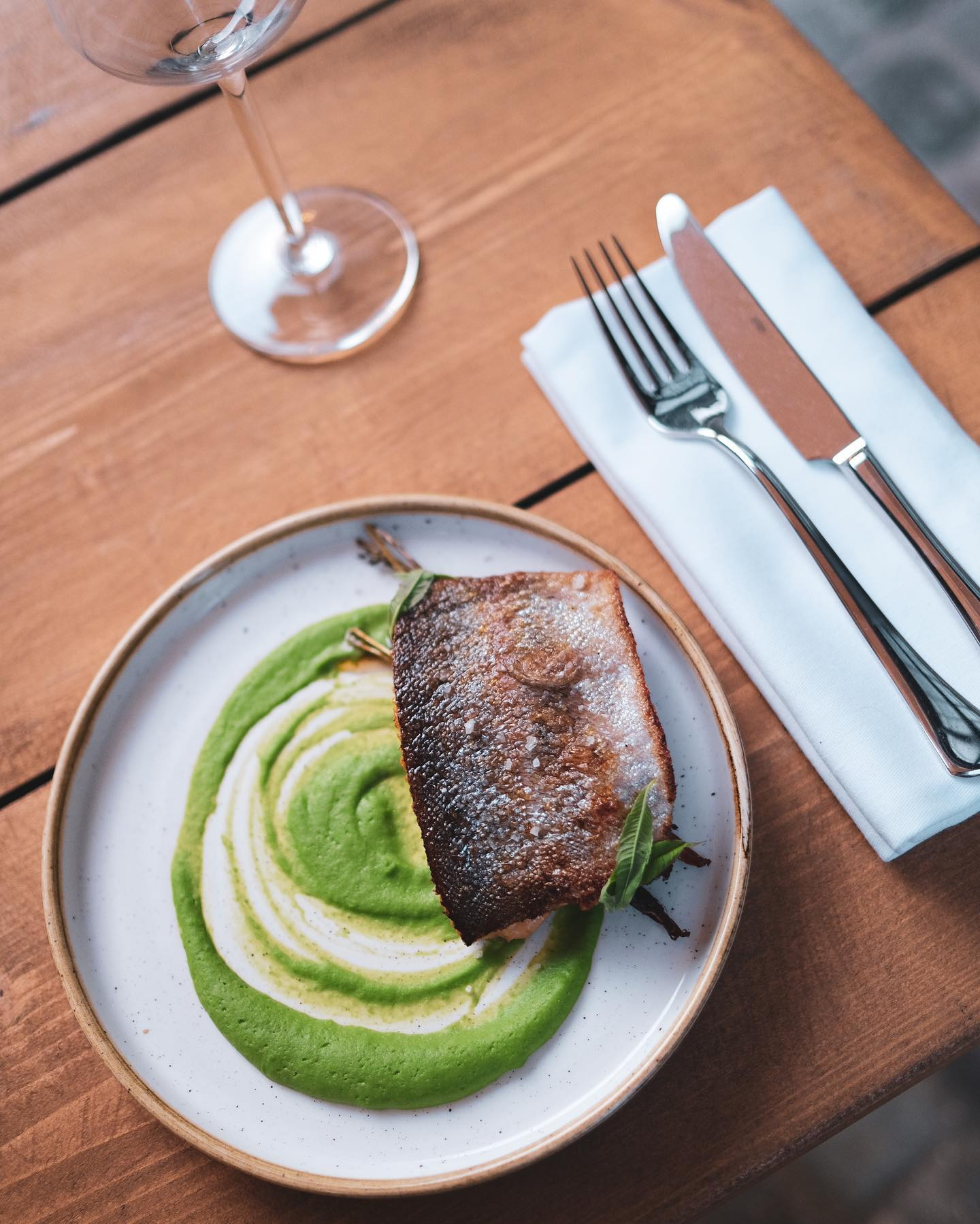 Still a few walk in spots for lunch today.   See you in the garden for some trout, peas and sorrel?