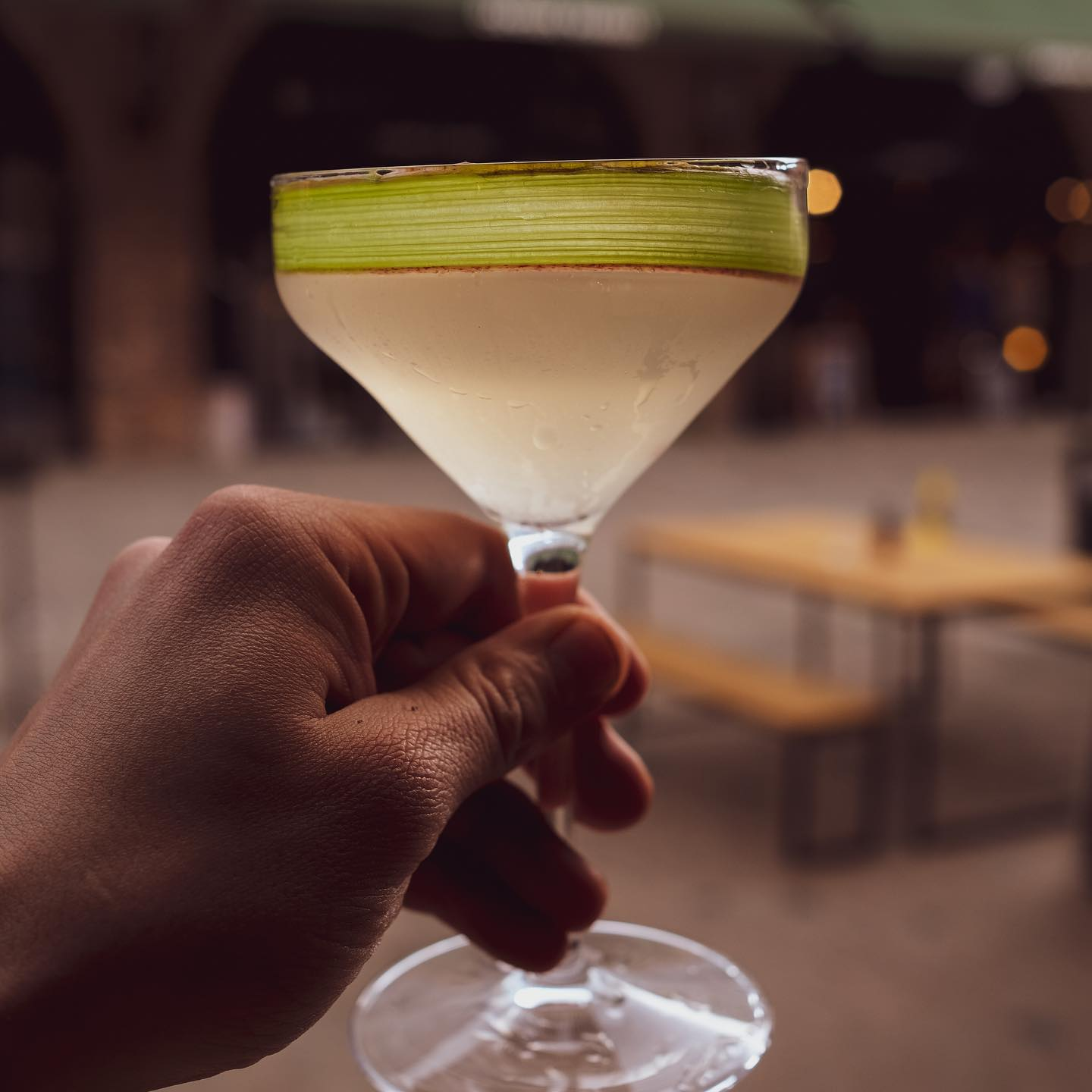 The Farrier Martini  Our house martini will change with the seasons and will always feature a base of @halfhitchgin and fino Sherry with the addition of our seasonal shrub.   This weeks shrub is rhubarb and it's completely delicious!  Available every day.