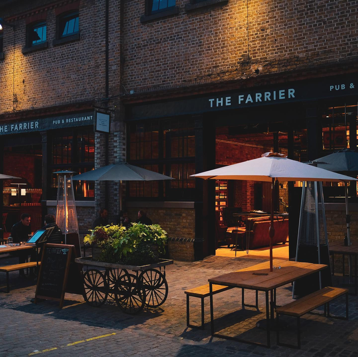 We're closed for afternoon as we reset after a busy bank holiday weekend and hatch plans for our indoor opening.   We'll be open from 5pm and have a few walk in spots left or book now on our website...  thefarriercamden.com