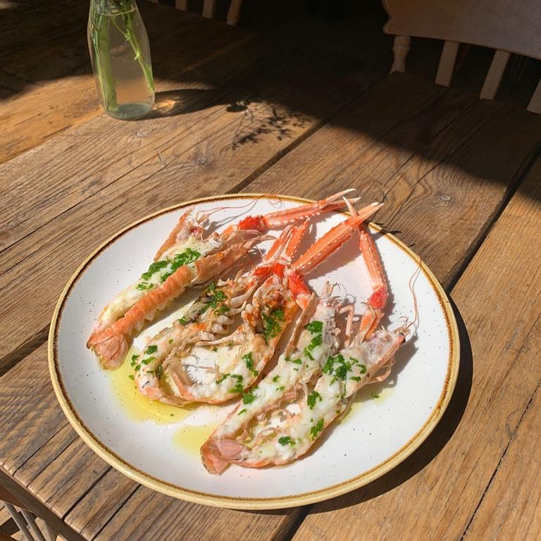 Grilled Langoustine with lemon, garlic and olive oil is the perfect special for such a sunny Saturday 🌞 come down a give it a try ✨
